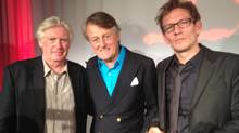International poetry prize winner David Harsent, Scott Griffin, and Canadian winner Ken Babstock (Tom Sandler/Tom Sandler)