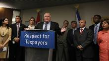 Since Mayor Ford first embarked last May on his core services review, an epic search for gravy at City Hall, Tuesday's vote on the floor of council was anticipated to initiate a wave of cutbacks and usher in a new order of small government in Toronto. (Peter Power/The Globe and Mail/Peter Power/The Globe and Mail)
