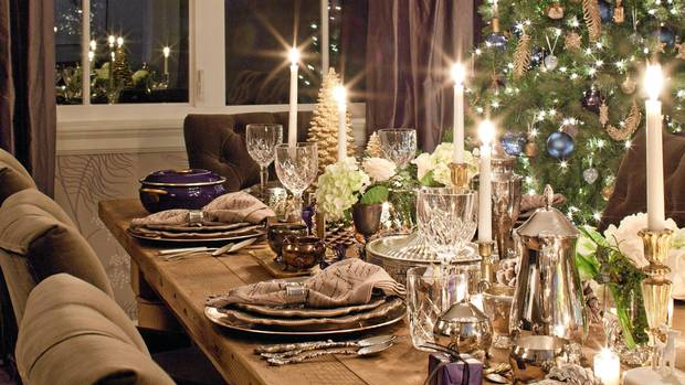 A Decorative Dinner Table Fit For Christmas Feasting The