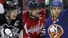 ttsburgh's Sidney Crosby, Washington's Alex Ovechkin and John Tavares of the New York Islanders
