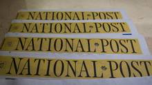 Copies of the Postmedia-owned newspaper National Post are seen in this file photo. (DARRYL DYCK/THE CANADIAN PRESS)