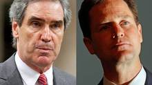 Liberal Leader Michael Ignatieff and British Liberal Democratic chief Nick Clegg are shown in a photo combination. (The Canadian Press and Reuters)