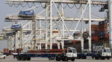 The container port at Delta, B.C. Exports to Britain and China grew 400 per cent from 2002 to 2011 to record levels. The two countries have also overtaken Japan to become the No. 2 and No. 3 destinations. (Lyle Stafford for The Globe and Mail)