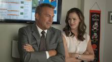 Kevin Costner and Jennifer Garner star in Draft Day (Dale Robinette)