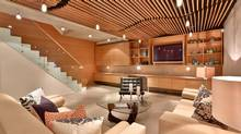 Baffles on the ceiling on the lower level create great acoustics in the home of composer Stephan Moccio. (Mitch Fain)