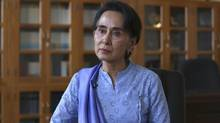 'I've always been a politician,' Aung San Suu Kyi tells The Globe and Mail on April 3, 2015. (Htoo Tay Zar for the Globe and Mail)