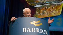 Barrick Gold chairman and founder Peter Munk has seen his fortunes fall as gold and copper prices plummet. (Chris Young/THE CANADIAN PRESS)