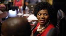 Outgoing South African Public Protector, Thuli Madonsela looks on before giving her last media briefing as her term comes to an end, in Pretoria, South Africa, October 14, 2016. (SIPHIWE SIBEKO/REUTERS)
