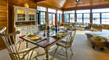 Linda Crammond's dining room in her Muskoka cottage