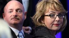 Mark Kelly and Gabrielle Giffords are fighting for changes to U.S. firearms laws. (Michael Dwyer/Associated Press)