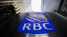 An RBC sign is seen in Toronto's financial district in this file photo. (Mark Blinch For The Globe and Mail)