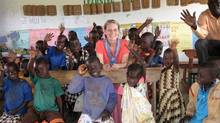 Lorna Pitcher, founder of Children of Hope Uganda, visits the Barlonyo Early Childhood Development Centre in October, 2013.