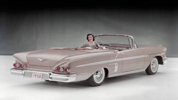 The 1958 Chevrolet Impala Sport Coupe Convertible, the introductory year for the model. (General Motors)