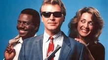 """A promotional photo for the TV series """"Sledge Hammer"""""""