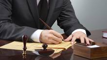 If your parent leaves a will, it's necessary to probate it even if you are the only beneficiary. (PHOTOS.COM)