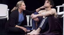 "Kathleen Turner and Evan Jonigkeit in ""High"" (Lanny Nagler)"