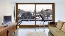 The third-floor family room in the home of Bob Bergman, designed by Martin Kohn, Kohn Shnier Architects, Toronto. (TOM ARBAN)
