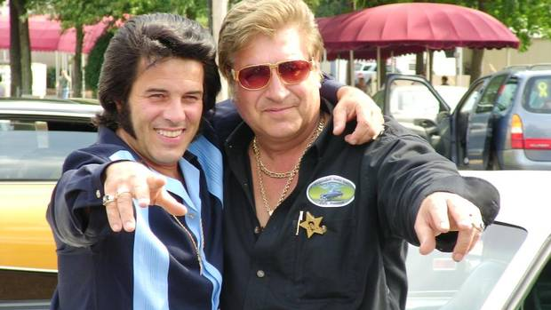 Brado Precision founder and president and Elvis Presley memorabilia collector Branko Kavcic, right, with Elvis impersonator and friend Tony Grova (COURTESY OF BRANKO KAVCIC)