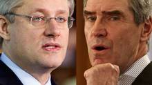 Prime Minister Stephen Harper and Liberal Leader Michael Ignatieff are shown in a January, 2011 photo combination. (The Canadian Press)