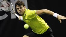 SAP Open winner Milos Raonic hopes to climb to within the top ten in the world tennis rankings this year. (AP Photo/George Nikitin) (George Nikitin/AP)