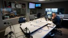 CKNW Radio talk show host Bill Good listens to a caller during his show in Vancouver on Wednesday. (DARRYL DYCK/THE GLOBE AND MAIL)