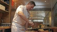 Chef Tom Brodi in the new cheese room of Toronto's Ritz-Carlton hotel. (Fernando Morales/The Globe and Mail/Fernando Morales/The Globe and Mail)