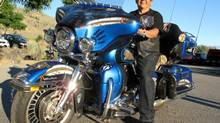 Harley-Davidson-riding Clarence Louie is chief of the Osoyoos Band, which owns the Spirit Ridge Resort, the surrounding vineyards, the winery next door and a championship golf course. (Roy MacGregor/The Globe and Mail)