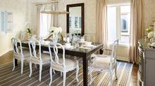 Forget china and set a table that's fun and practical. Sarah Richardson designed dining room. (Stacey Brandford)