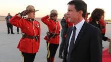 French Prime Minister Manuel Valls arrives at Ottawa international airport on October 12, 2016. (Lars Hagberg/AFP/Getty Images)