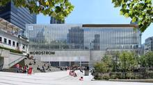 Built for Eaton's in 1973 as part of the Pacific Centre mall in Vancouver, and recently a Sears Centre, this Cadillac Fairview property is soon to be made over for upscale U.S. department store Nordstrom. (Cadillac Fairview)
