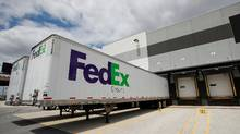 A FedEx delivery truck trailers are seen outside the new Chicago Loop FedEx Ground Station in Chicago, Illinois, U.S. (KAMIL KRZACZYNSKI/REUTERS)
