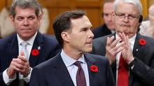 Finance Minister Bill Morneau delivers the fall economic statement, including details of infrastructure spending, in the House of Commons Nov. 1, 2016. (CHRIS WATTIE/REUTERS)