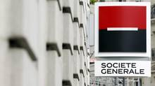 A view of the logo outside a branch of French bank Societe Generale in Paris in this September 13, 2011 file photo. (CHARLES PLATIAU/Reuters)