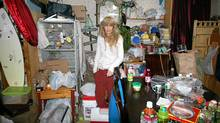 A hoarder awaits her televised salvation. (handout)