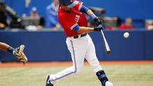 'Nice to come through for the people of Canada,' the Blue Jays' Mark DeRosa said after Toronto celebrated Canada Day with a victory. (MARK BLINCH/REUTERS)