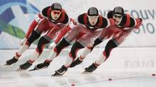 Mathieu Giroux of Canada's speed skating team. (Peter Power/The Globe and Mail)
