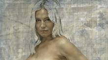 A detail of Jonathan Yeo's painting of a naked Sienna Miller. (www.jonathanyeo.com)