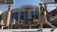 The Jobing.com Arena in Glendale, Ariz., where the Phoenix Coyotes NHL hockey team plays home games. (Ross D. Franklin/AP)
