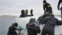 Canadian military divers participate in Operation Nanook in 2011. (Sgt. Norm McLean/DND-Canada)