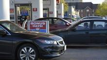 Motorists line up for gas at a gas station in Toronto in this file photo. (Fred Lum/Fred Lum/The Globe and Mail)