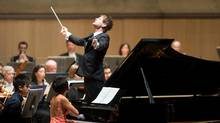 Pianist Yuja Wang and conductor Krzysztof Urbanski. (Jag Photography)