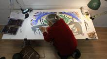 Ashevak is the last of the founders of the printmaking Cape Dorset studio established by James Houston, then a government-appointed administrator, in Cape Dorset in the late 1950s.Images from Cape Dorset, Nunavut on November 8, 2022. (Peter Power/The Globe and Mail)