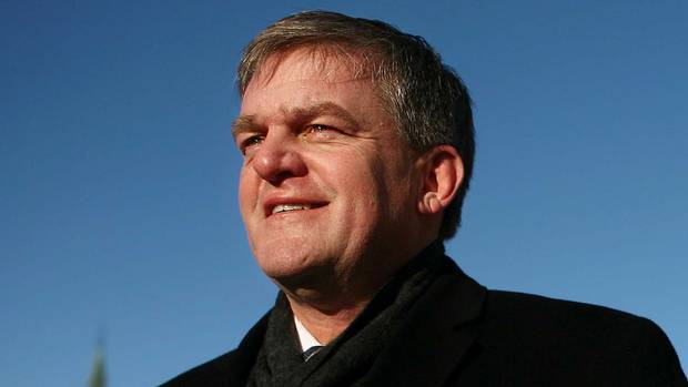 New Brunswick Premier David Alward stands on Parliament Hill in Ottawa on Feb. 15, 2011.