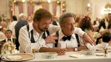 Paul Giamatti and Dustin Hoffman in a scene from Barney's Version, on the playbill for TIFF 2010.