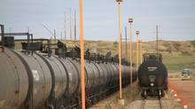 The World Fuels/Dakota Plains fuel loading terminal in New Town, N.D., is shown in September, 2013. With the practice of moving crude oil by rail now under scrutiny, North Dakota and its lucrative Bakken oil deposits have a lot at stake. (JERRY W. KRAM FOR THE GLOBE AND MAIL)