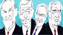 Every economic sector benefits and the criticism is overstated, say former trade ministers Michael Wilson, Roy MacLaren, Jim Peterson and David Emerson (Anthony Jenkins/The Globe and Mail)