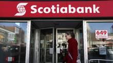 A Scotiabank location in Toronto. (Deborah Baic/Deborah Baic/The Globe and Mail)