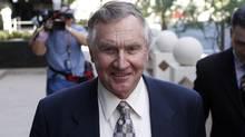Jerry Moyes leaves U.S. Federal Bankruptcy Court in Phoenix, Arizona September 23, 2009. (Joshua Lott/Reuters/Joshua Lott/Reuters)