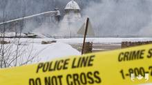 Two B.C. sawmill workers are still missing after an explosion at their Burns Lake mill Friday. Fire Chief Jim McBride says he has never seen anything like the mill fire in his 36 years with the service.