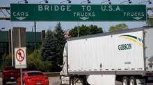 Traffic makes its way to the Ambassador Bridge, which connects Canada to the United States. (Mark Spowart/CP)